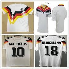 2019 1990 World Cup Germany Retro Soccer Jersey 18 Klinsmann 10 Matthaus 1994 Home White Deutschland Classic Vintage Custom Football Shirt From