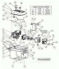Powermate formerly coleman pm0433500 parts diagram for generator parts in bri