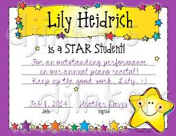 Star Student Certificates Star Student Certificates Magdalene Project Org