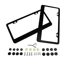 Number Plate Frame Design Buy Stainless Steel License Plate Frame 2 Holes Matte Black