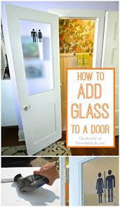 Remodelaholic | How to Add a Glass Pane to a Wood Door