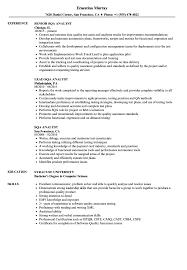 Sqa Analyst Resume Samples Velvet Jobs