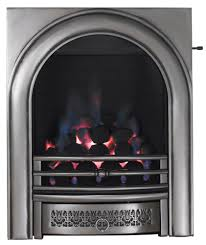 Focal Point Arch Satin Chrome Slide Control Inset Gas Fire