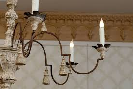wood and metal chandeliers
