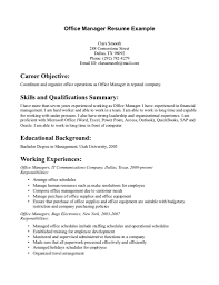 Manager Resume Objective Sample Office Manager Resume Objective Danayaus 23