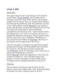 beowulf eulogy essay