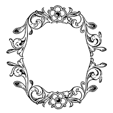 antique frame border png. Floral Decorative Frame Border Antique Png H