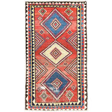 red tribal persian gabbeh rug for