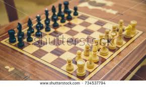 Vintage Wooden Board Games Vintage Wooden Chess On Chess Board Stock Photo 100 97
