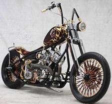 old school chopper built in the united arab emirates at cyril