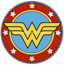 free superhero printables wonder woman printable sticker small and large sizes