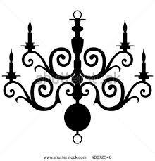 chandelier clipart vector chandelier silhouette