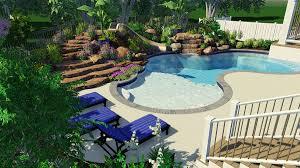 Custom Backyard Pool Designs Inspiration In Action Custom Lagoon Pool Design Woodfield