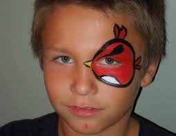 angry bird eye face painting marvelous masks chicago face painting you