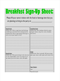 12 Sign Up Sheet Examples Samples Examples