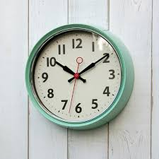 fullsize of cordial green fifties style kitchen wall clock infinity wall clocks pertaining togreen wall clock
