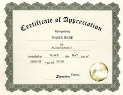 Certificate Of Appreciation Templates Free Download Word Certificate Template Free Tirevi Fontanacountryinn Com