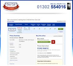 car insurance quote compare one call insurance