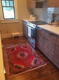 oriental rug in kitchen