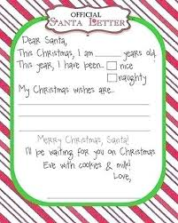 Santa List Template Santa Claus With Wish List Isolated On White Vector Image