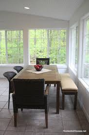 Sunroom Dining Room Awesome Sunroom Update My New Table And Chairs Hooked On Houses