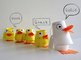 Diy Paper Cup Duck Family Puppets Handmade Charlotte