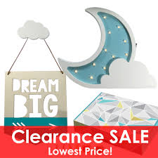 Cre8tivepick Led Night Lamp For Kids Marquee Wooden Moon Cloud Light