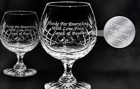 personalised cut crystal brandy glasses crystal brandy glasses gift set