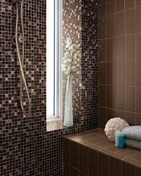 indoor mosaic tile bathroom wall glass origins glass earth blend