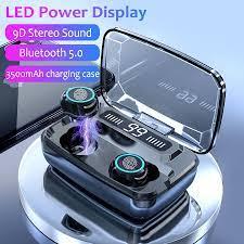 Satın Al M11 TWS Gerçek Kablosuz Bluetooth 5.0 Kulaklık, 2000mAh Ile 8D  Suround Bass Kulaklık, Gürültü Önleyici Kulaklık Kılıf Şarj, TL128.46