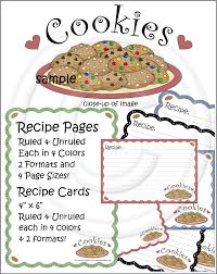 recipe pages cookbook