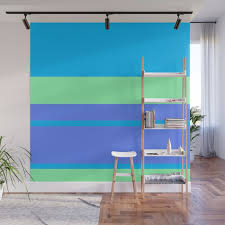 retro blue surf wall mural by