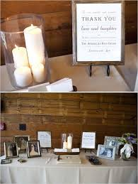 Contemporary Decoration Ideas For A Memorial Service At Home Guest Book And  Memory Table Combined Really Like The Set Up
