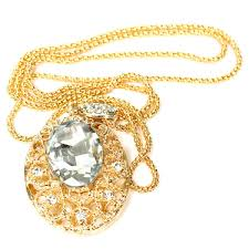 big oval pendant long necklace gold plated sku214372 10