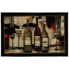 wine and glasses 2 ft 6 in x 3 ft 10 in