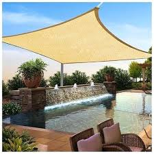 outdoor canopy square sun shade sail top cover patio lawn w bed diy daybed string lights outdoor canopy