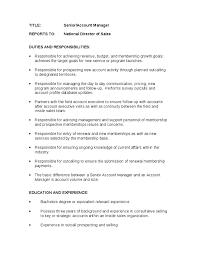 senior account manager job description account manager roles and responsibilities service director job description