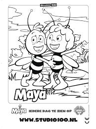 Kleurplaat Maya Kleurplatennl