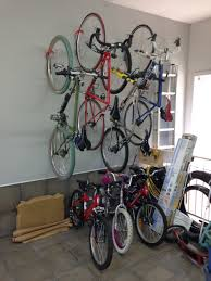 ... Rack, The Completed Installation Wall Mount Bike Rack For Garage Ideas:  Surprising Wall Mount ...