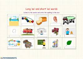# not suitable for all phones. Long And Short Ea Words Worksheet