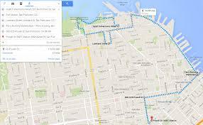 walking around san francisco google map