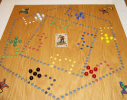 Wooden Board Game With Pegs Pegs and Jokers and Marbles 100 100 Player Board with Aggravation 100 74