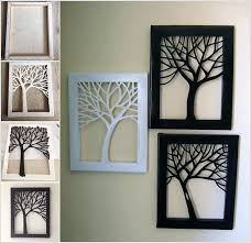 draw a tree on canvas and then cut the silhouette creative easy diy wall art ideas website picture gallery wall art ideas diy
