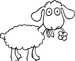 Small Picture Sheep coloring pages eating flower ColoringStar