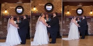 wedding ceremony at chandelier ballroom in hartford wi