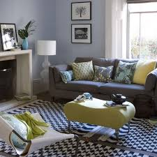 Good Way To Bring In The Blue And Yellow With Charcoal Couches On  Remarkable Grey And