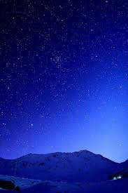 cold blue starry sky mountains iphone 6 wallpaper