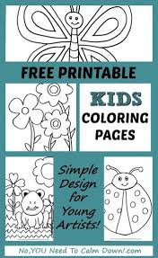 Coloring Pages For Kids Free Printables No You Need To Calm Down