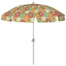 7 ft 6 in round multicolor patio umbrella with tilt and crank