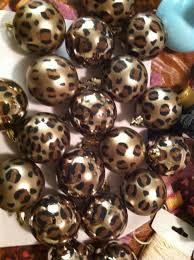 Leopard Decorative Balls DIY cheetah print ornaments Have a wild christmas L 8